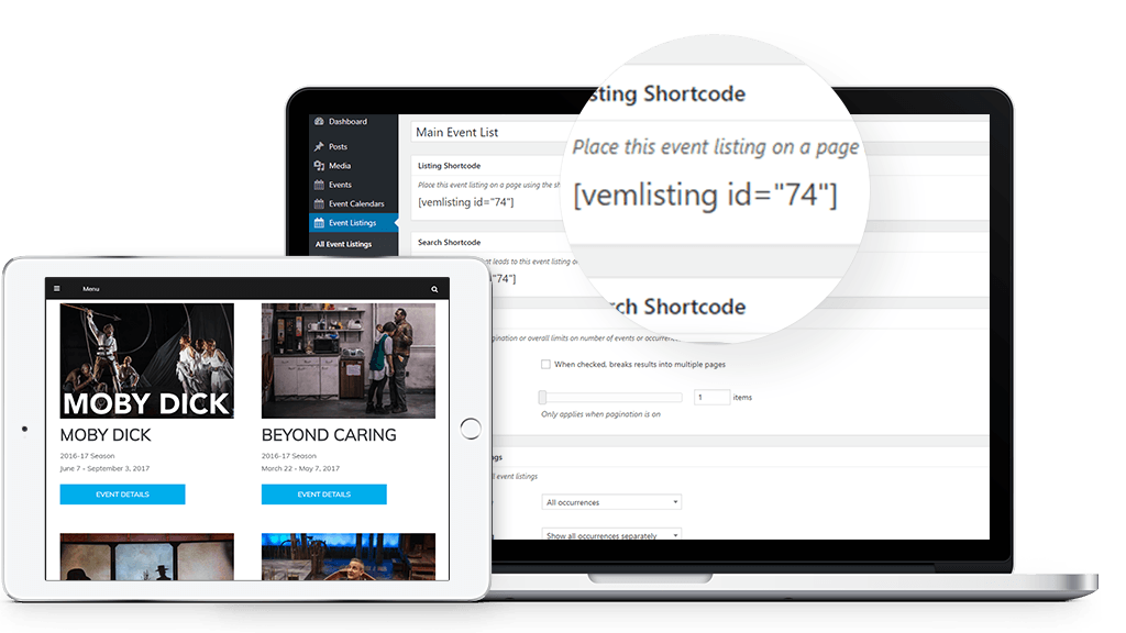 Listing Shortcode